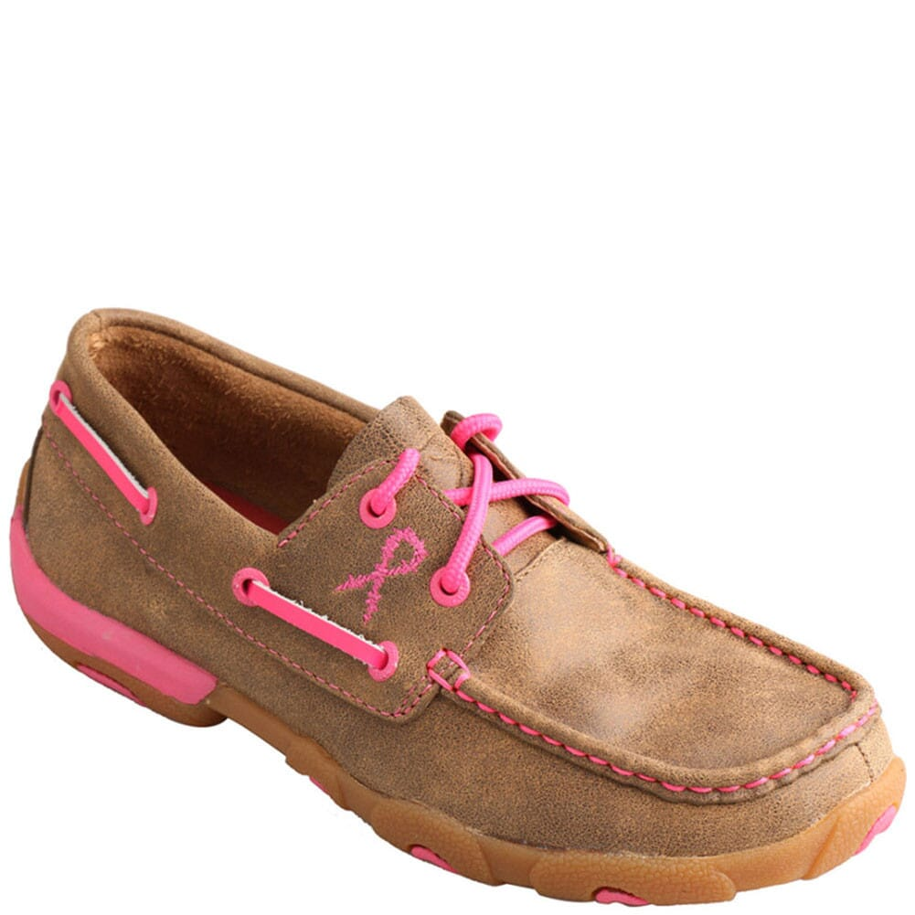Image for Twisted X Women's Driving Moccasin Casual Shoes - Bomber/Neon Pink from bootbay
