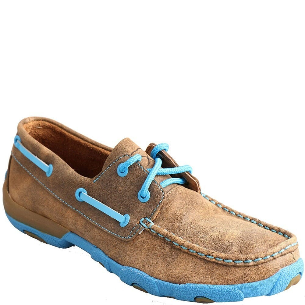 Image for Twisted X Women's Driving Moccasin Casual Shoes - Bomber/Neon Blue from bootbay