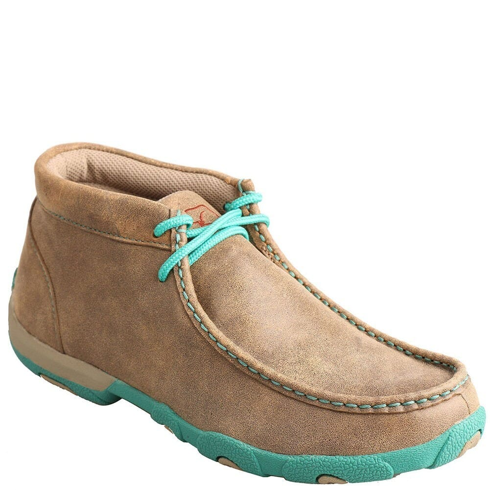 Image for Twisted X Women's Driving Moccasin Casual Shoes - Bomber/Turquoise from bootbay