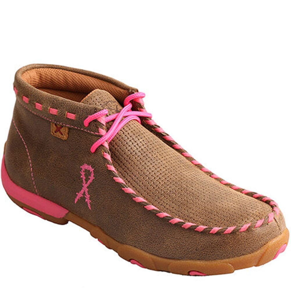 Image for Twisted X WomenÆs TETWP Chukka Driving Moc - Bomber/Neon Pink from bootbay