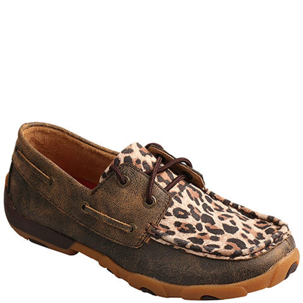 Image for Twisted X Women's Driving Moccasins - Distressed/Leopard from bootbay