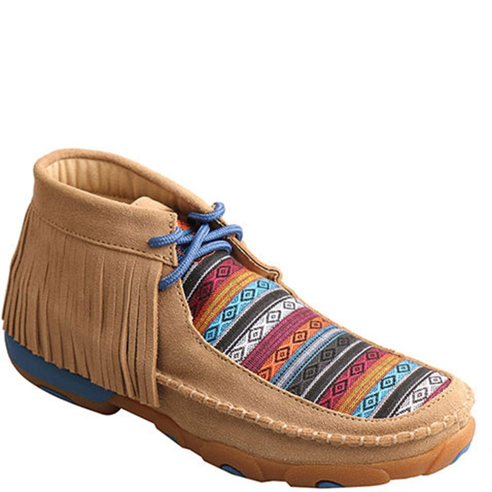 Image for Twisted X Women's Mid Driving Moccasins - Serape Fringe from bootbay