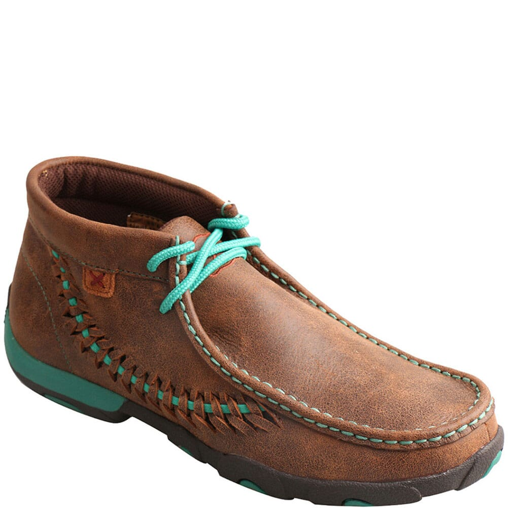 Image for Twisted X Women's Original Chukka Driving Moc - Brown/Turquoise from bootbay