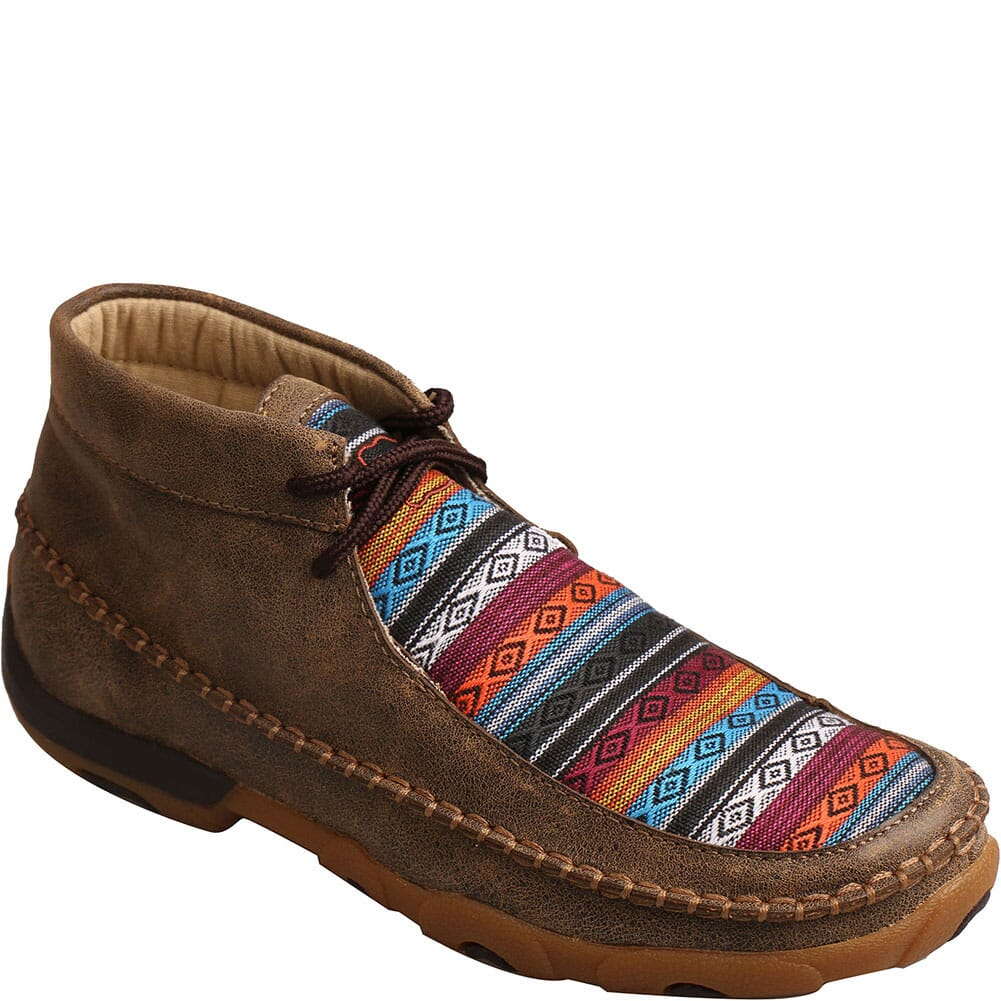 Image for Twisted X Women's Chukka Driving Moc Boots - Bomber/Multi Pattern from bootbay
