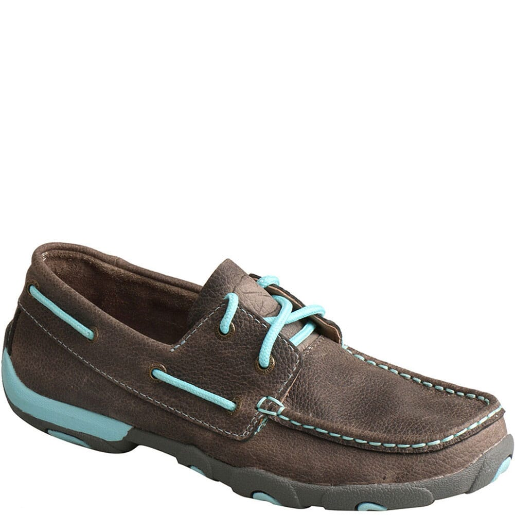 Image for Twisted X Women's Boat Shoe Driving Moc - Grey/Light Blue from bootbay