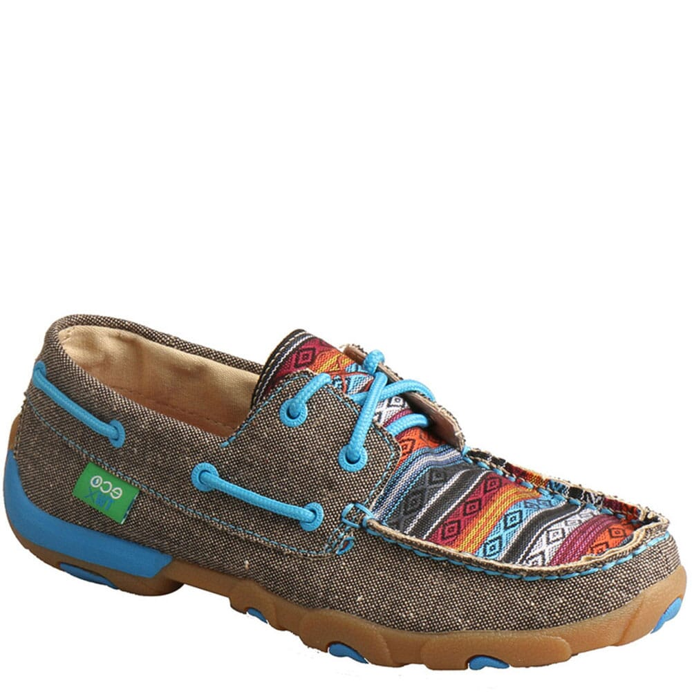 Image for Twisted X Women's Boat Shoe Driving Moc - Dust/Multi from bootbay
