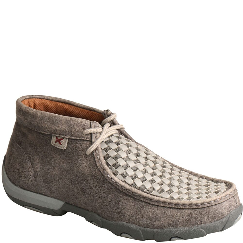 Image for Twisted X Women's Driving Moc Chukka - Woven Grey/Grey from bootbay