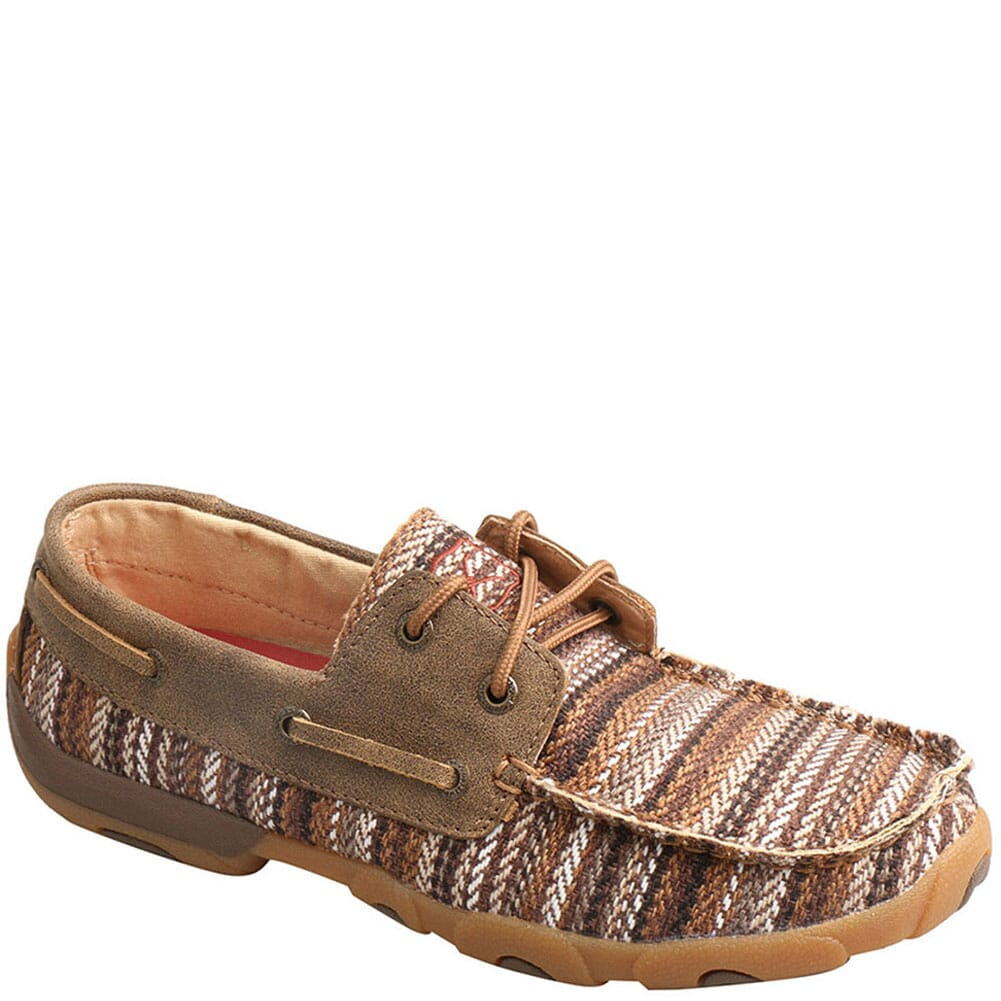 Image for Twisted X Women's Boat Shoe Driving Moc - Multi/Bomber from bootbay