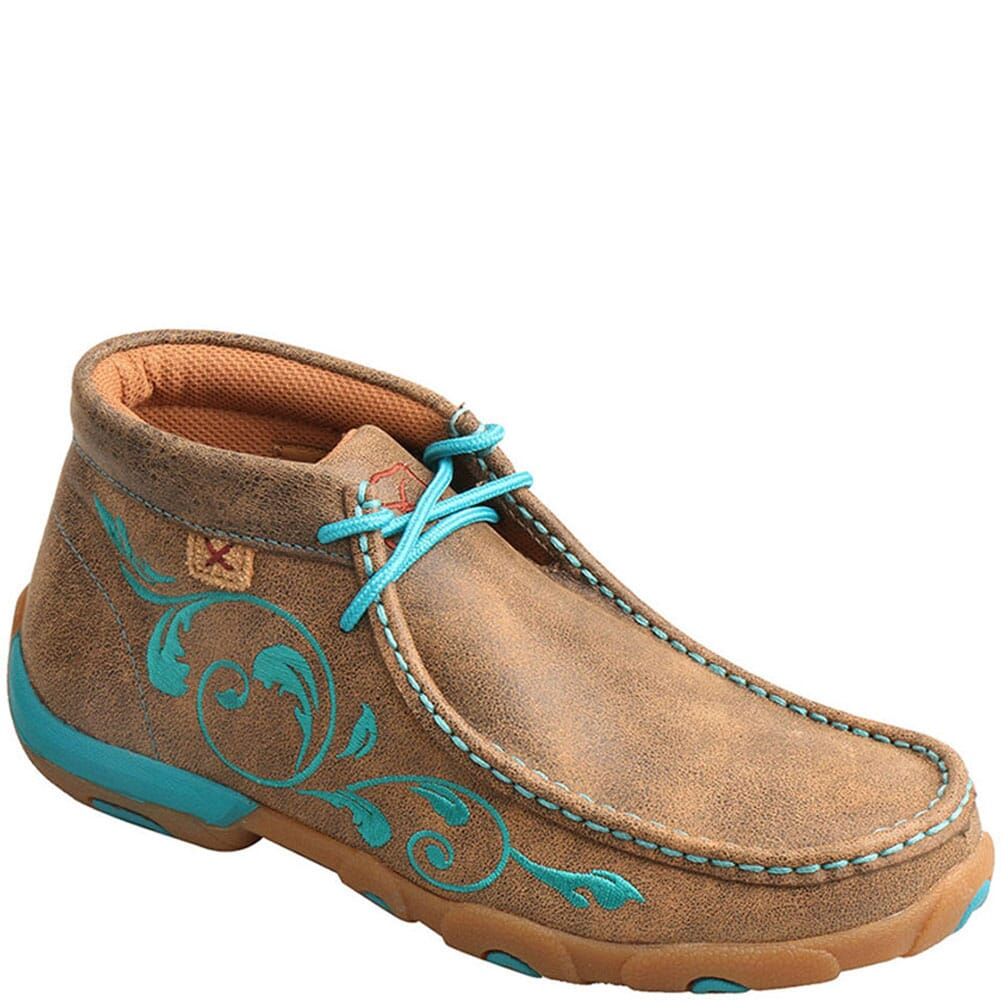 Image for Twisted X Women's Driving Moc Chukka - Bomber/Turquoise from bootbay