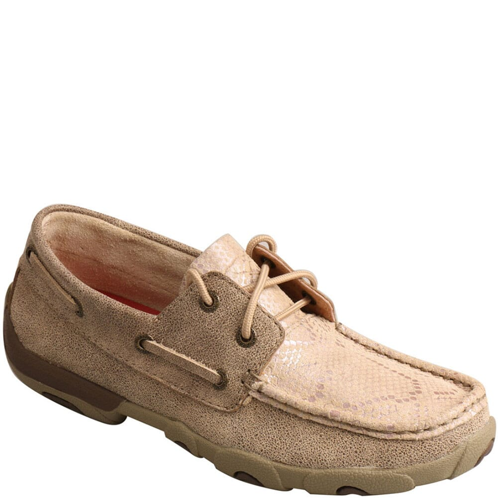 Image for Twisted X Women's Boat Shoe Driving Moc - Dusty Tan from bootbay
