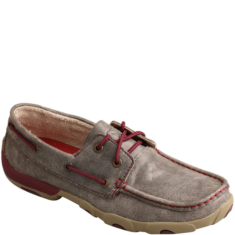 Image for Twisted X Women's Boat Shoe Driving Moc - Grey/Berry from bootbay