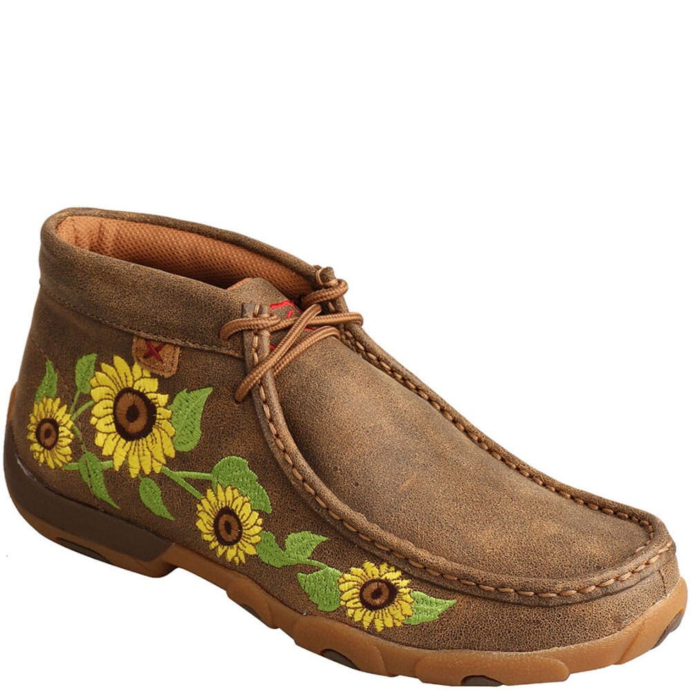 Image for Twisted X Women's Driving Moc Chukka - Bomber/Sunflower from elliottsboots