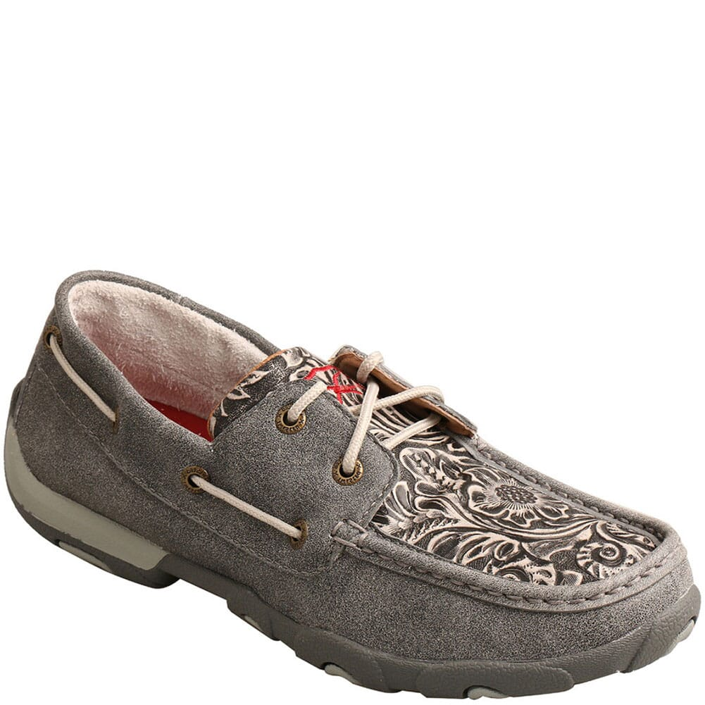 Image for Twisted X Women's Boat Shoe Driving Moc - Grey/Multi from bootbay