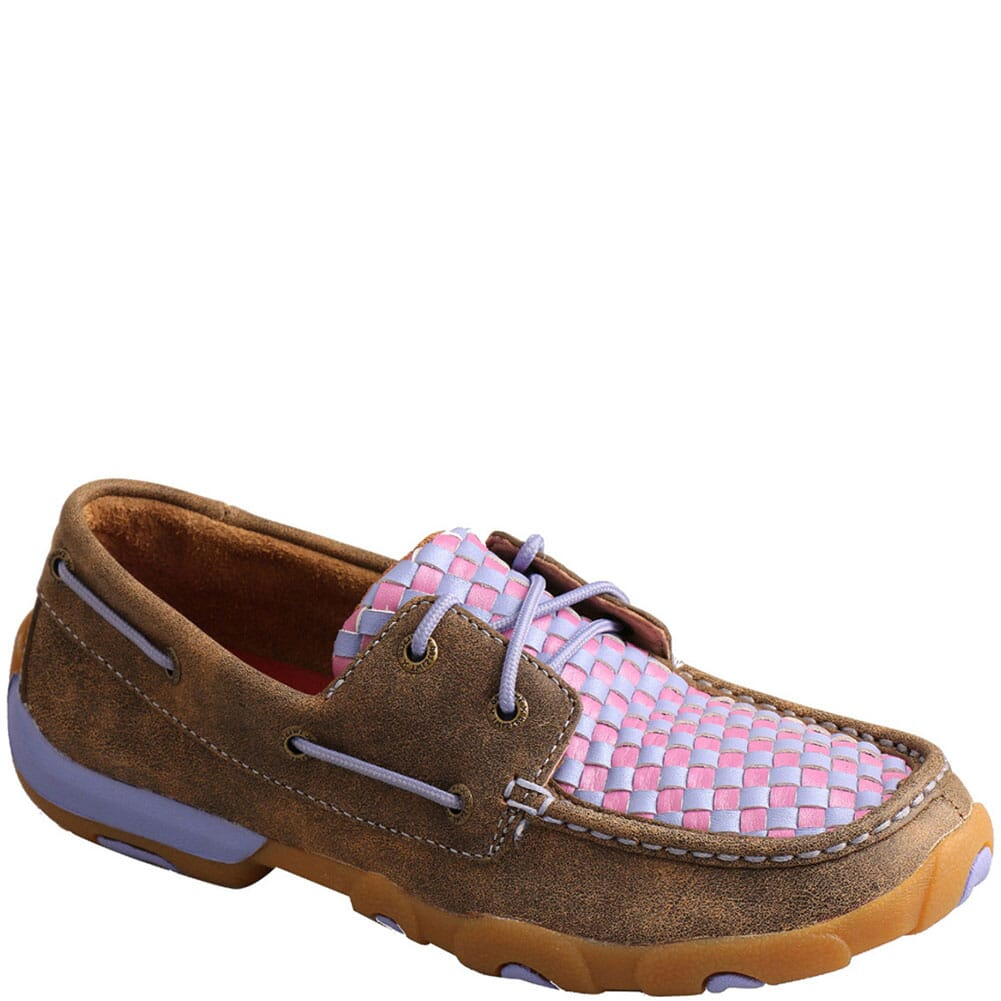 Image for Twisted X Women's Boat Shoe Driving Moc - Bomber/Purple from bootbay
