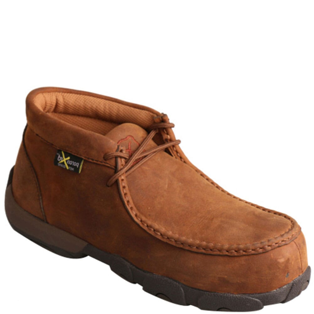Image for Twisted X Women's Driving Moc Safety Boots - Distressed Saddle from elliottsboots