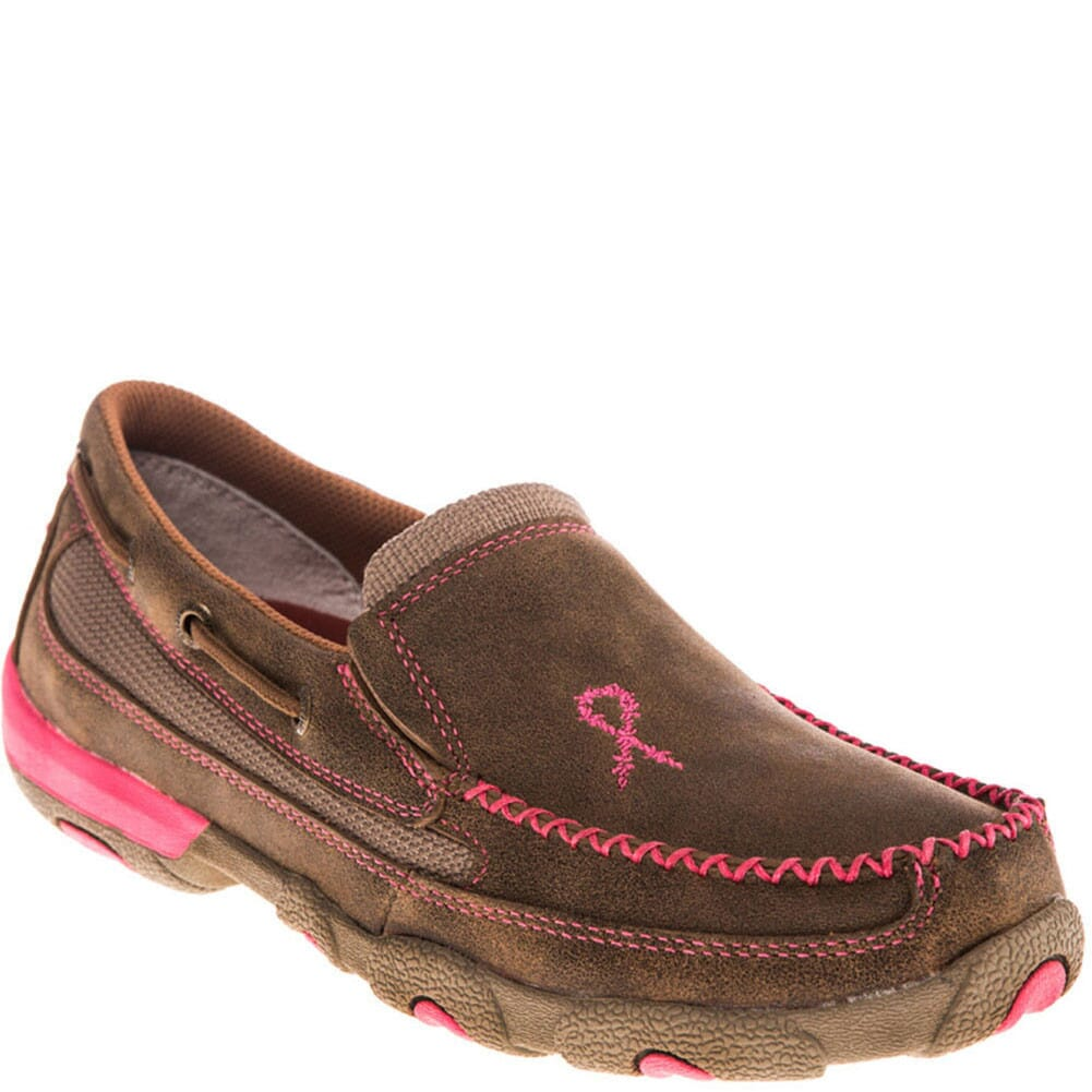 Image for Twisted X Women's Driving Moccasin Casual Slip On - Bomber/Neon Pink from bootbay
