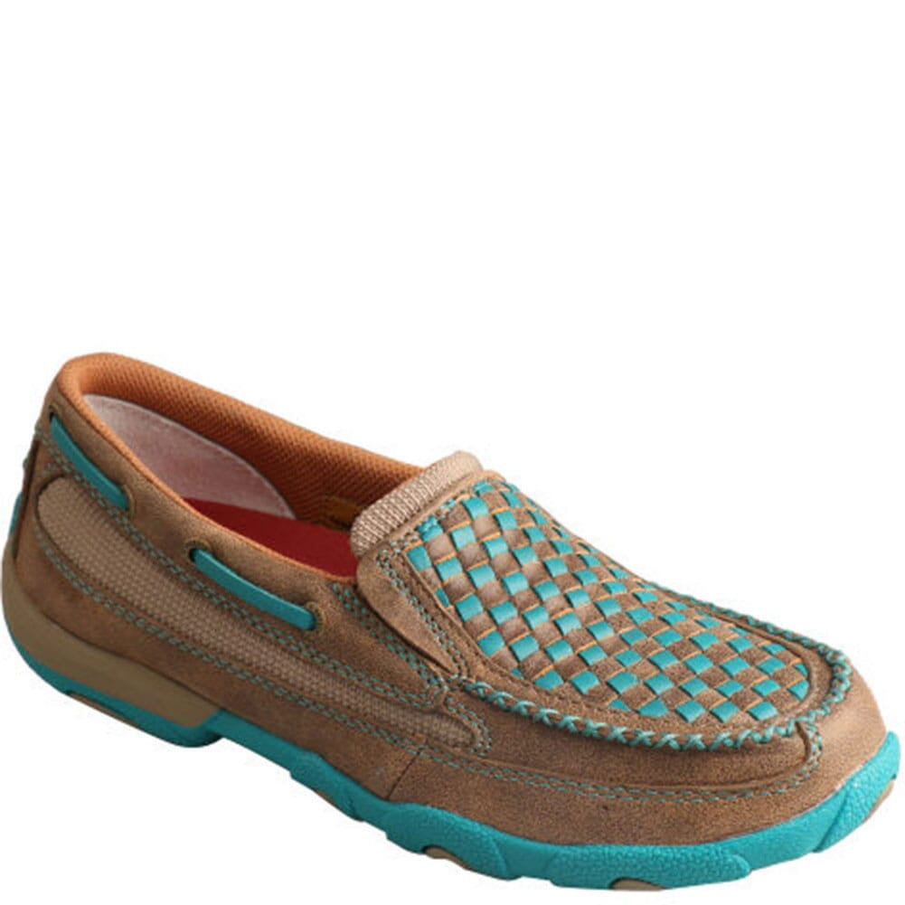 Image for Twisted X Women's Slip-on Driving Moccasins - Bomber/Turquoise from bootbay