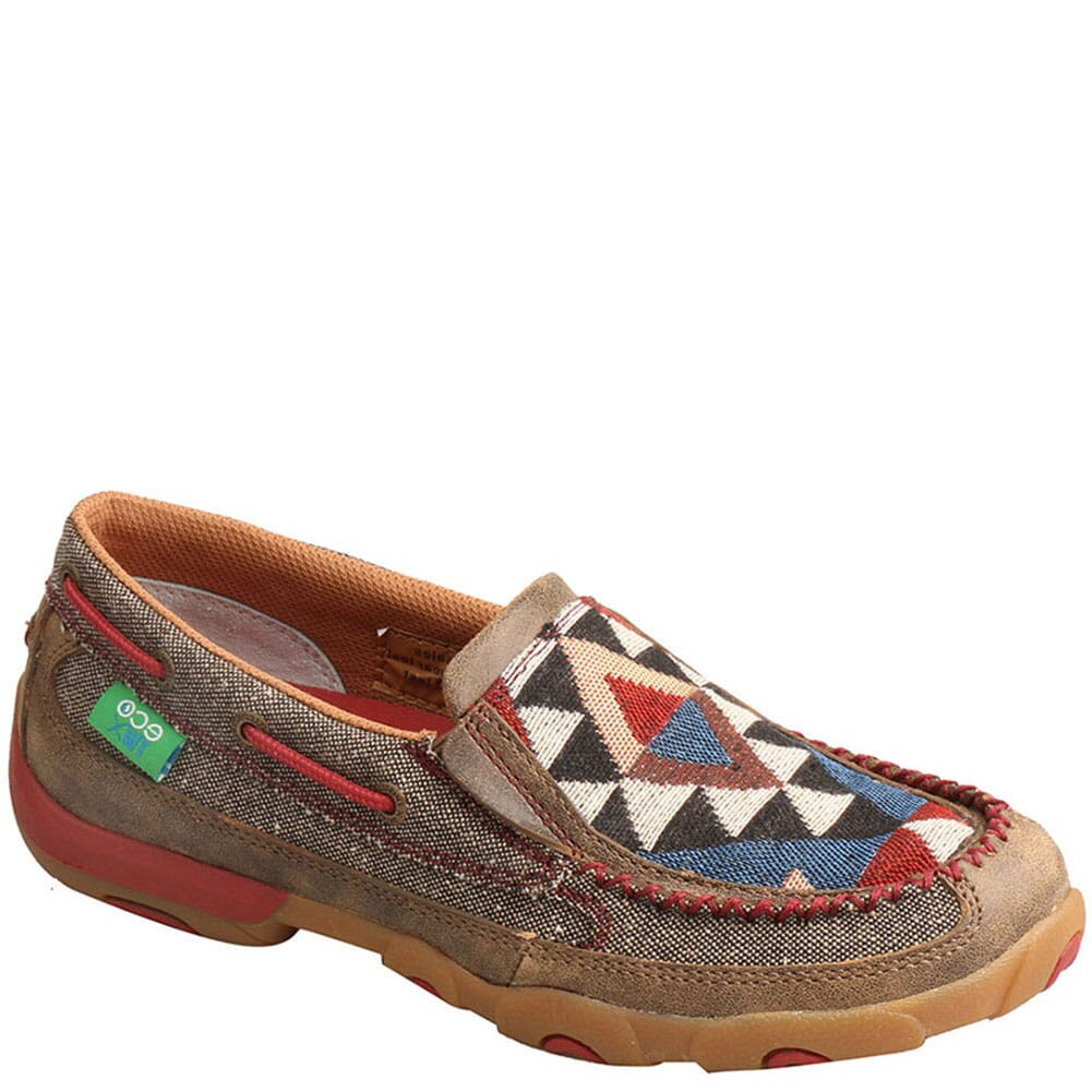 Image for Twisted X Women's Driving Moc Slip Ons - Dust/Multi from bootbay