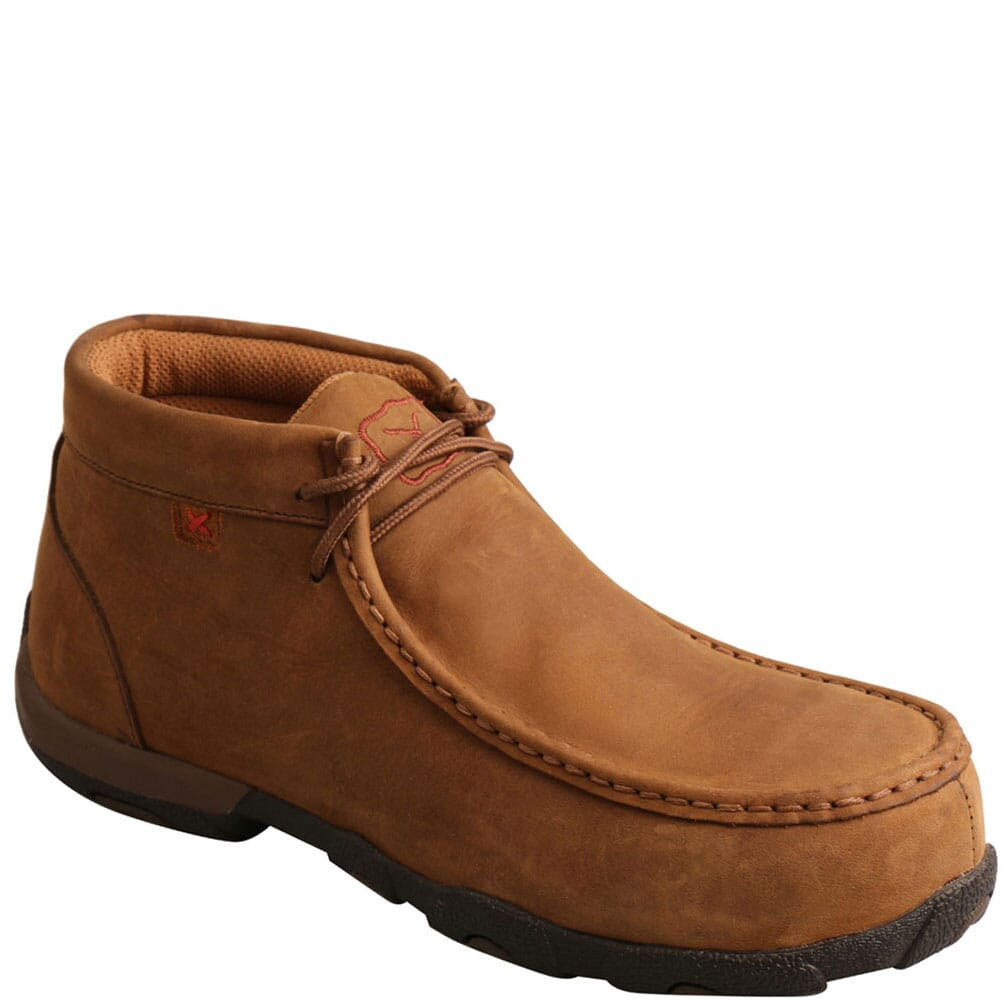 Image for Twisted X Women's Driving Moc Safety Shoes - Saddle from elliottsboots