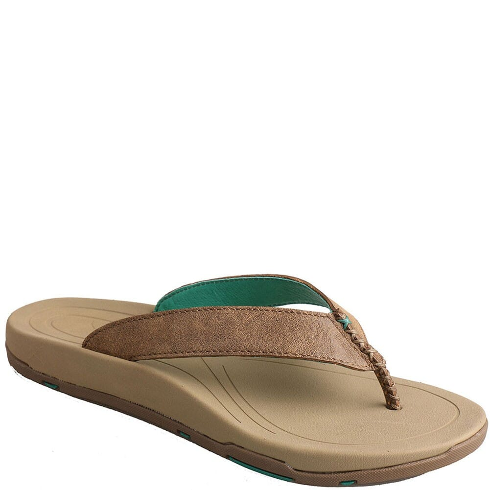 Image for Twisted X Women's Red Buckle Flip Flop - Bomber from elliottsboots