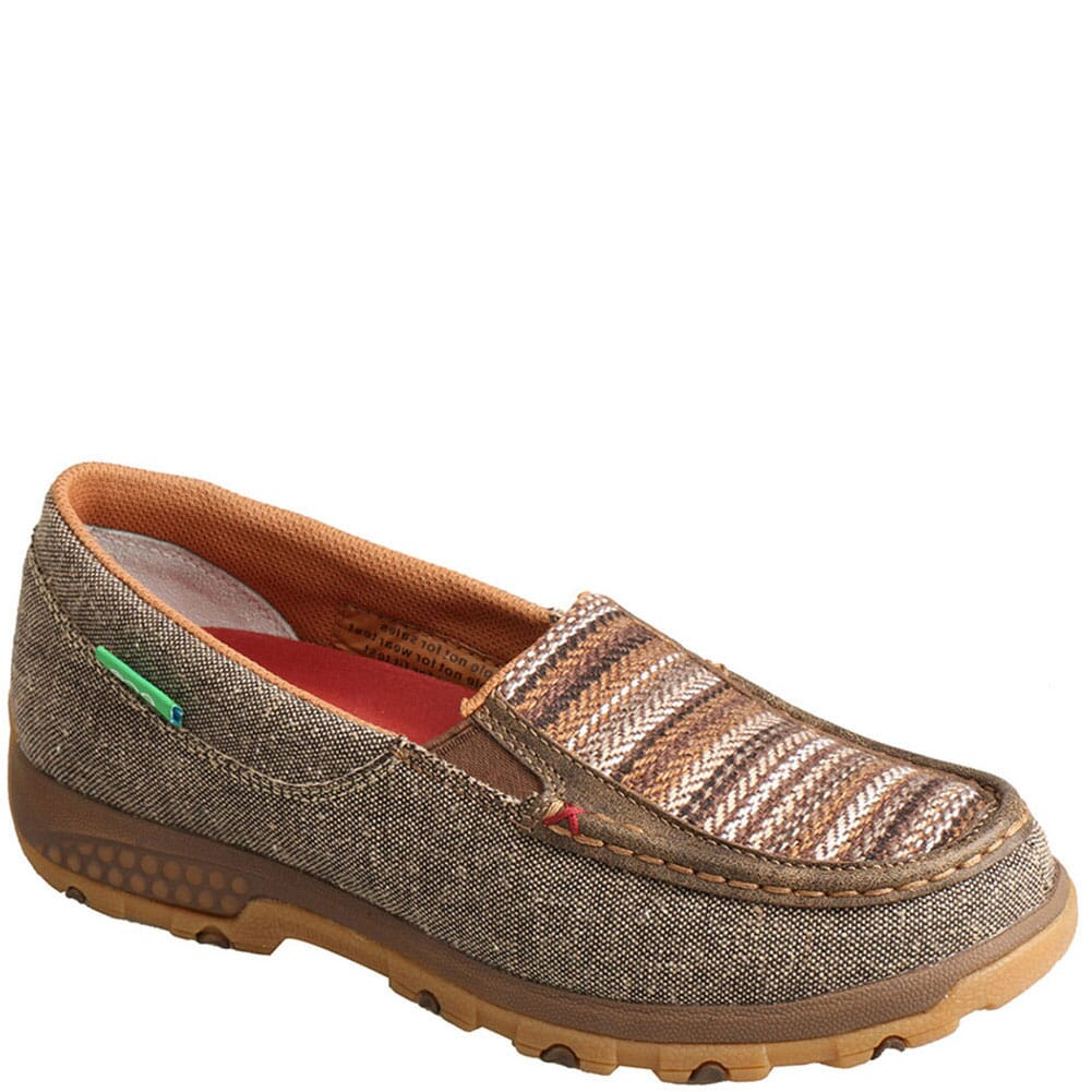 Image for Twisted X Women's Driving Moc Boat Slip-On - Khaki/Grey Multi from bootbay