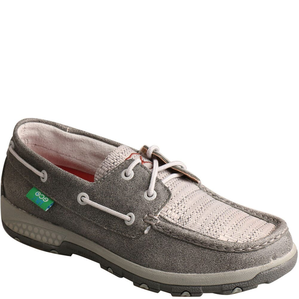 Image for Twisted X Women's Driving Moc Boat Shoes - Grey/Light Grey from bootbay