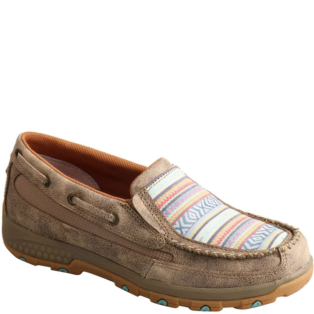 Image for Twisted X Women's Driving Moc CellStretch Casual Boat Shoes - Dusty Tan/ from bootbay