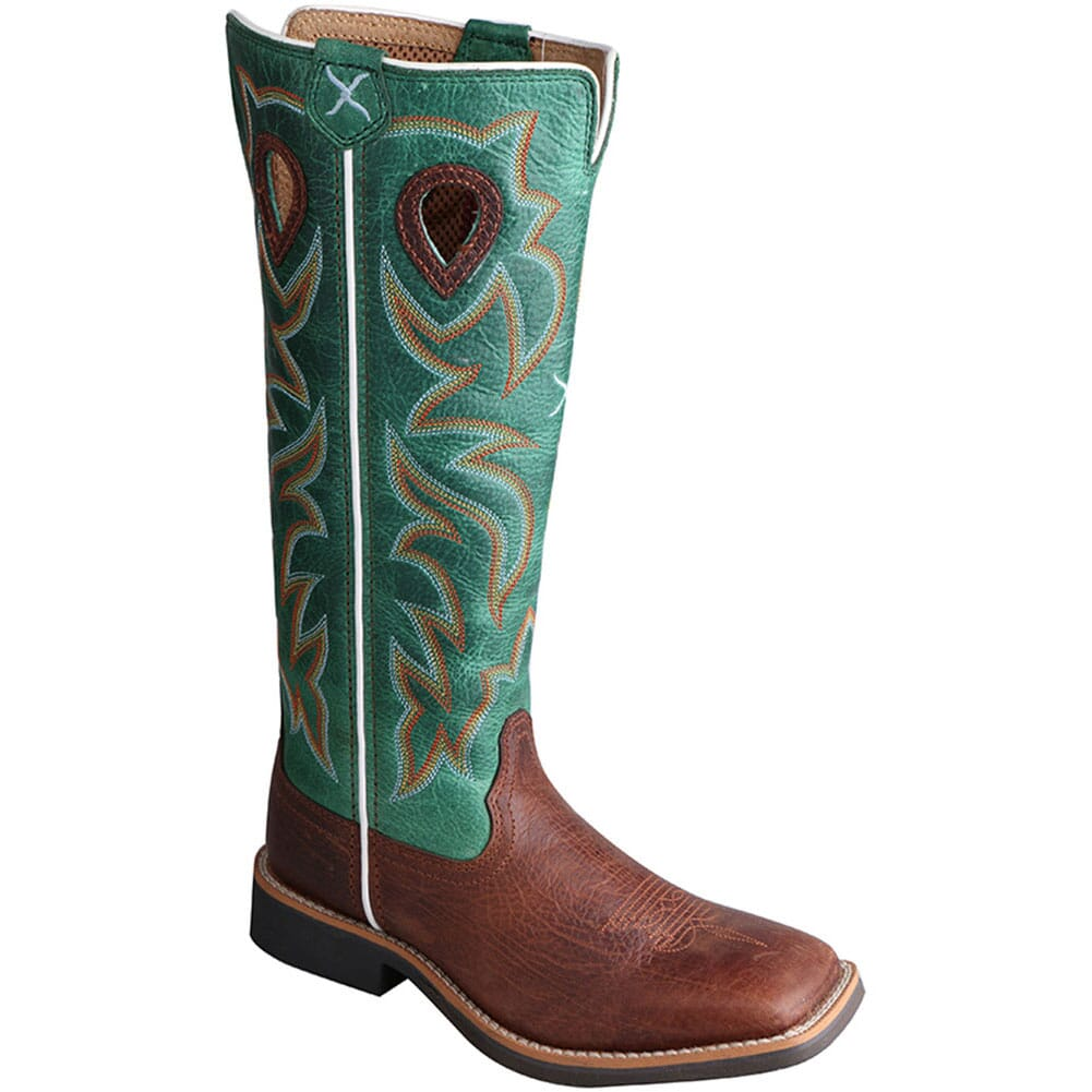 Image for Twisted X Kid's Buckaroo Western Boots - Cognac/Turquoise from bootbay