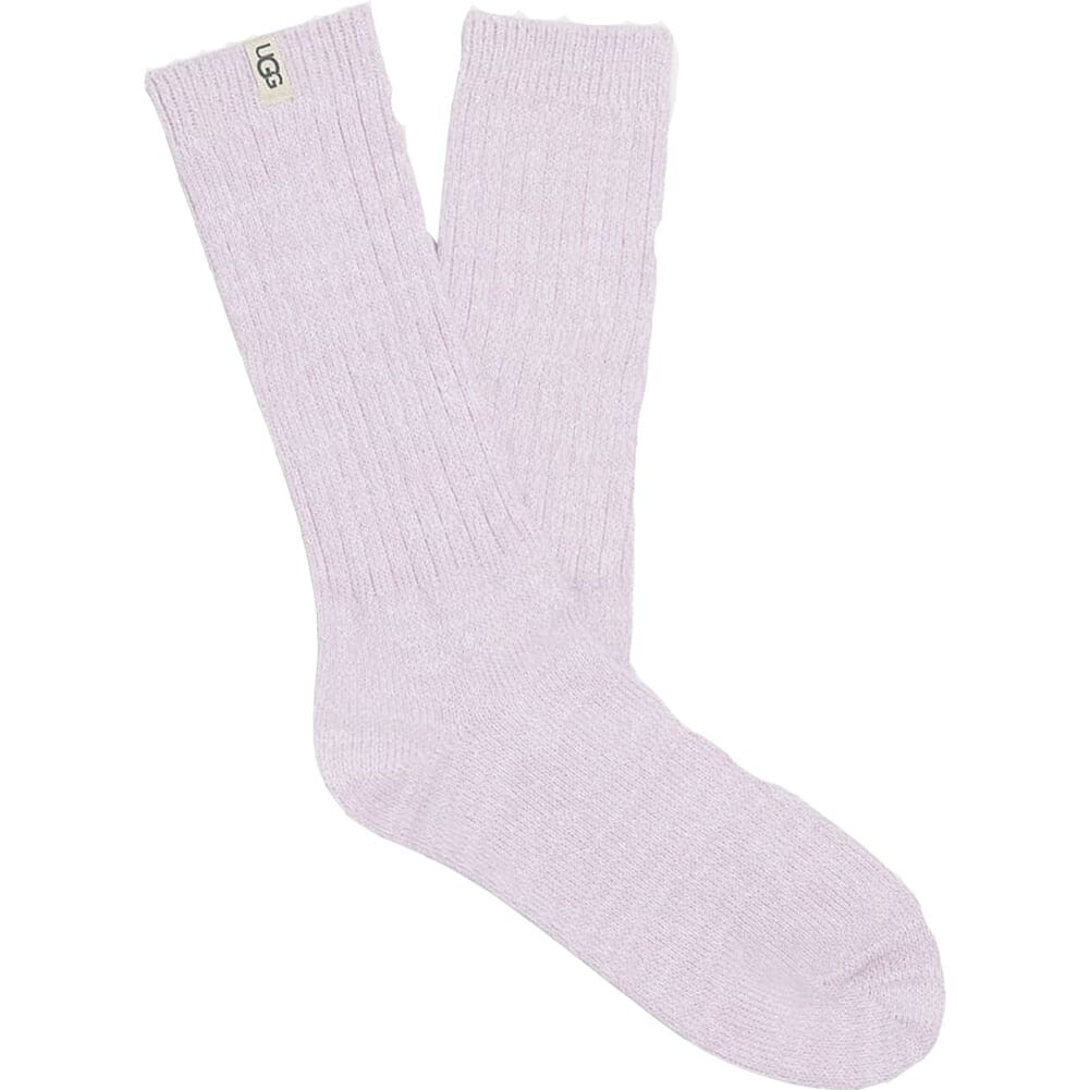 Image for UGG Women's Rib Knit Slouchy Crew Socks - Lilac Frost from bootbay