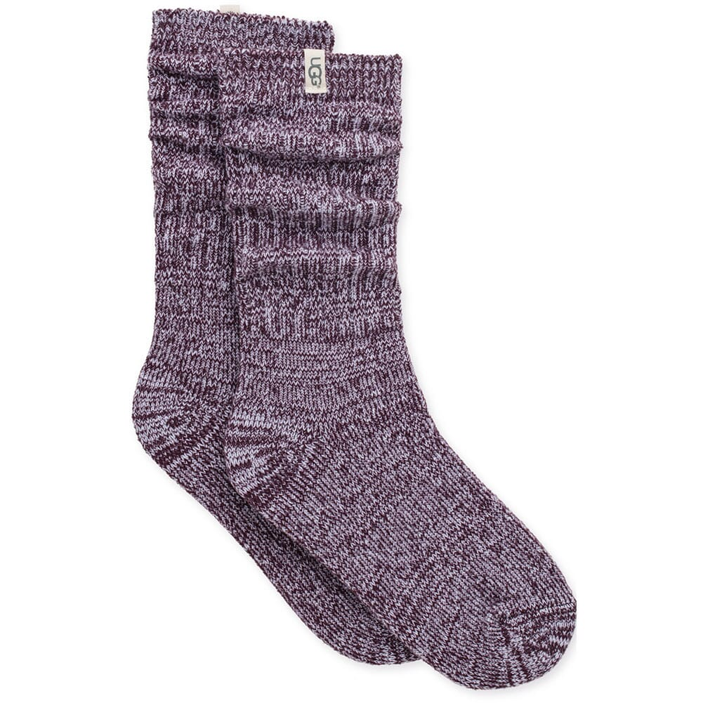 Image for UGG Women's Rib Knit Slouchy Crew Socks - Port from bootbay