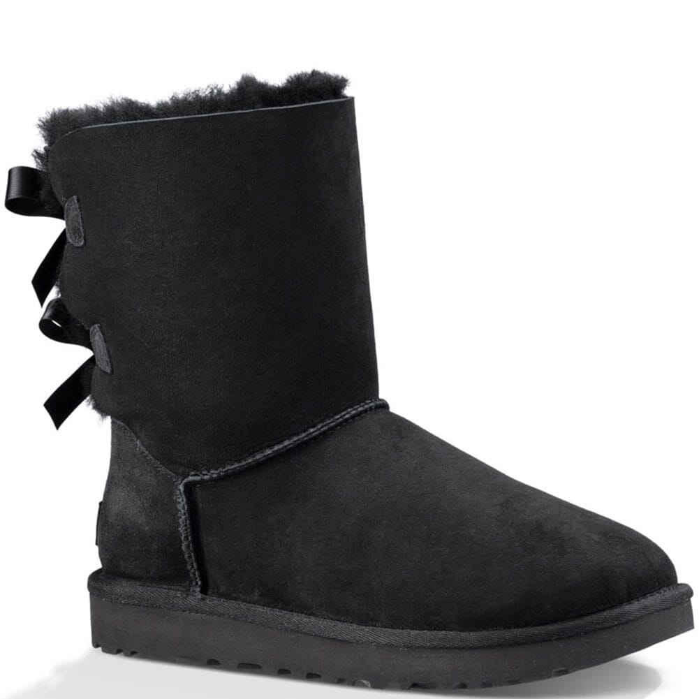 Image for UGG Women's Bailey Bow II Casual Boots - Black from bootbay