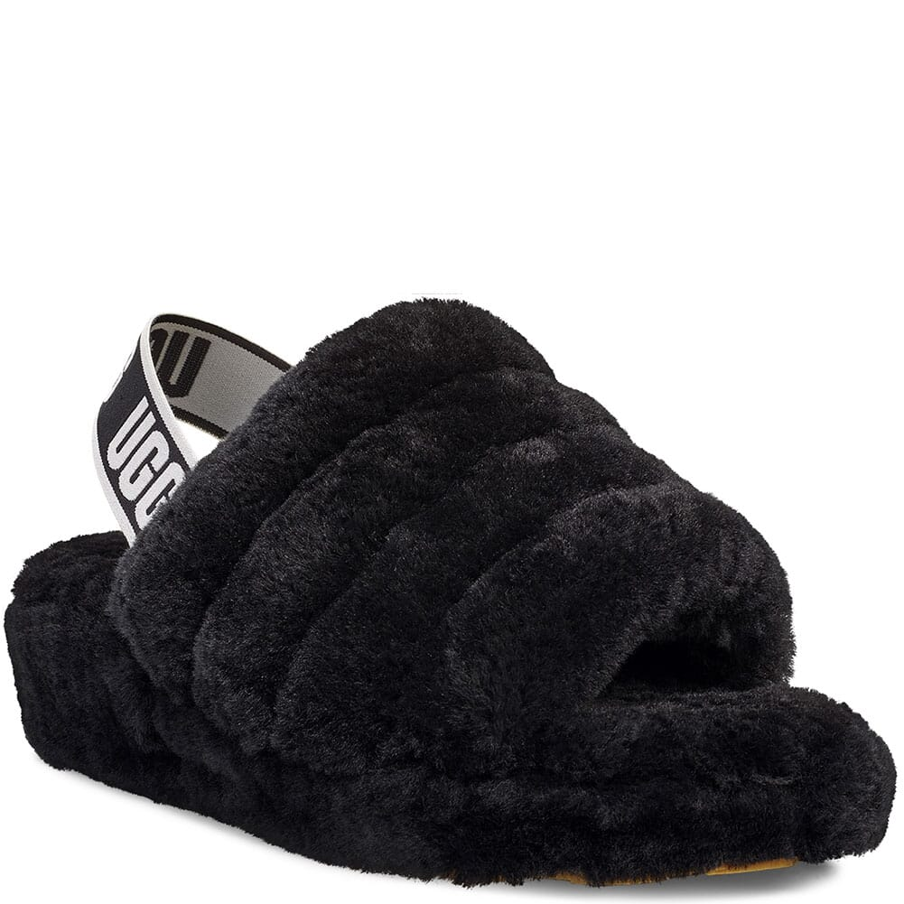 Image for UGG Women's Fluff Yeah Slippers - Black from bootbay