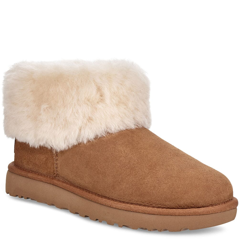 Image for UGG Women's Classic Mini Fluff Casual Boots - Chestnut from bootbay