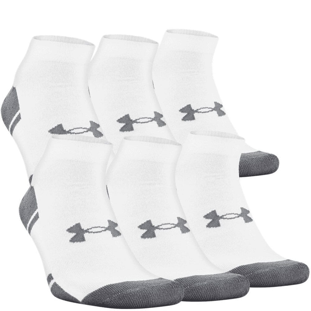 Image for Under Armour Men's Resistor III Lo Cut 6-Pack Sock - White from bootbay
