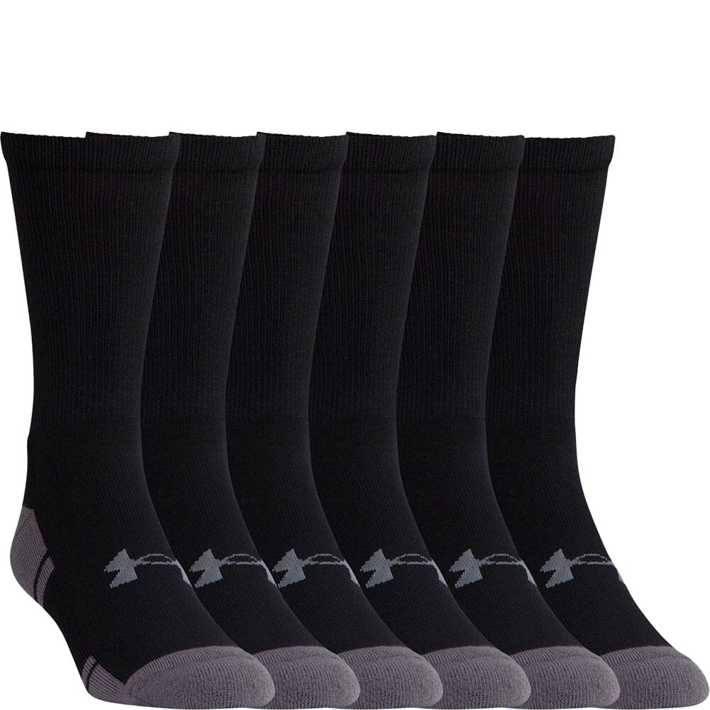Image for Under Armour Men's Resistor III Crew 6-Pack Sock - Black from bootbay