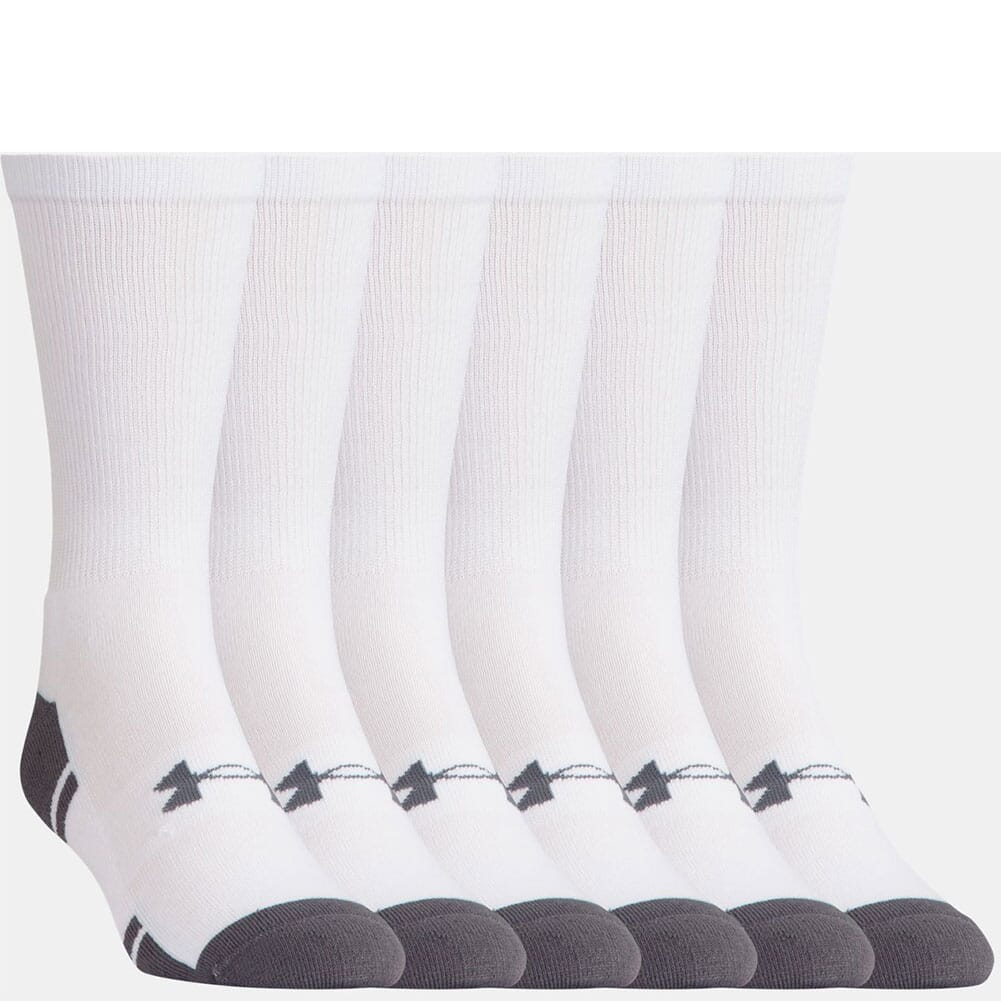 Image for Under Armour Men's Resistor III Crew 6-Pack Sock - White from bootbay