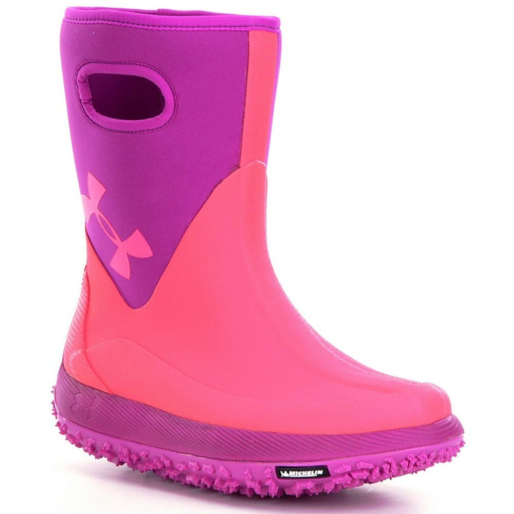 Image for Under Armour Girls Fat Tire Muddler Rubber Boots - Pink from bootbay