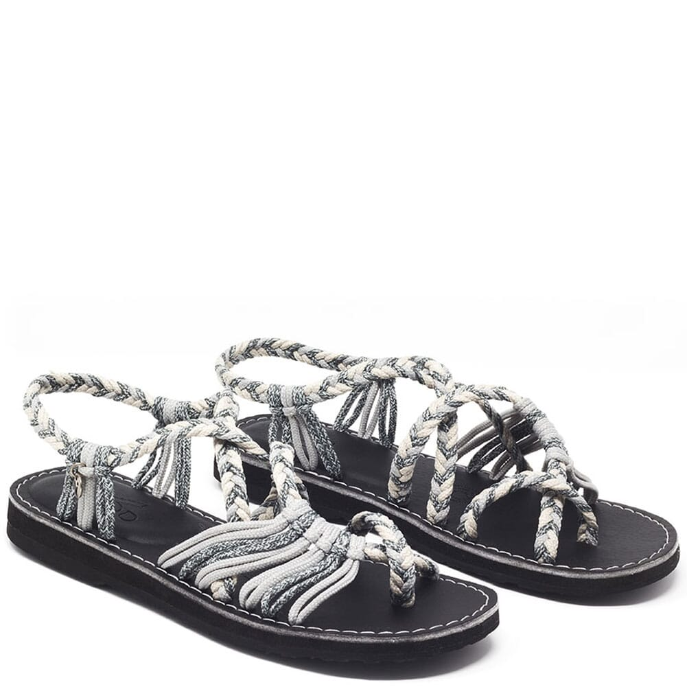 Image for Vines Islandwear Women's Salty X Sandals - Grey/Cream from bootbay
