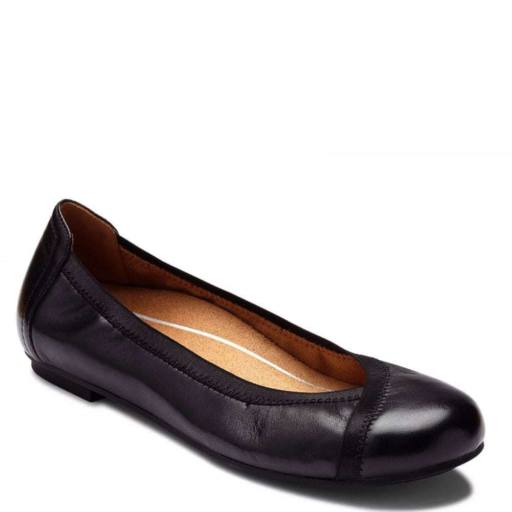 Image for Vionic Women's Caroll Ballet Flat Shoes - Black from bootbay