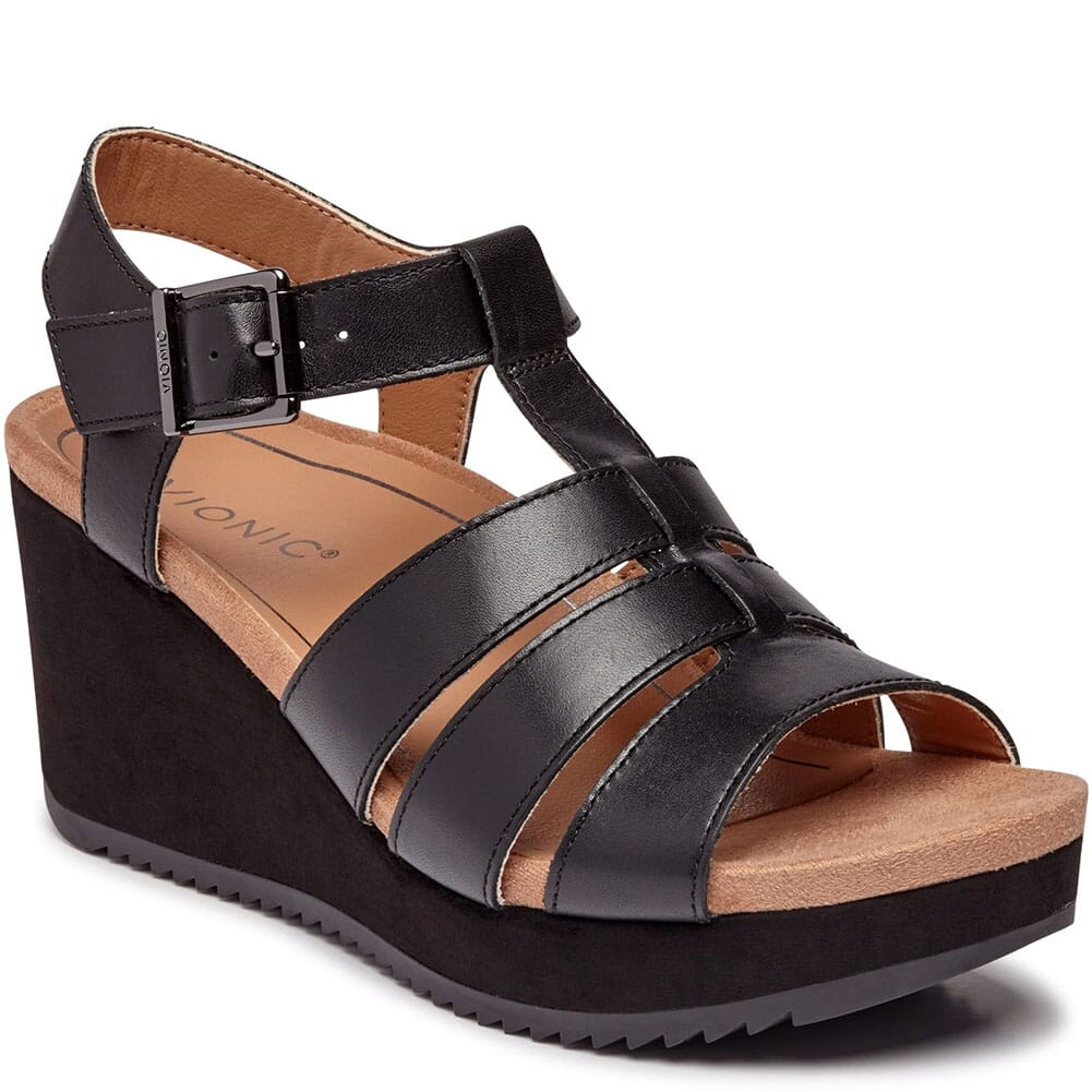 Image for Vionic Women's Tawny Platform Wedge Sandals - Black from bootbay