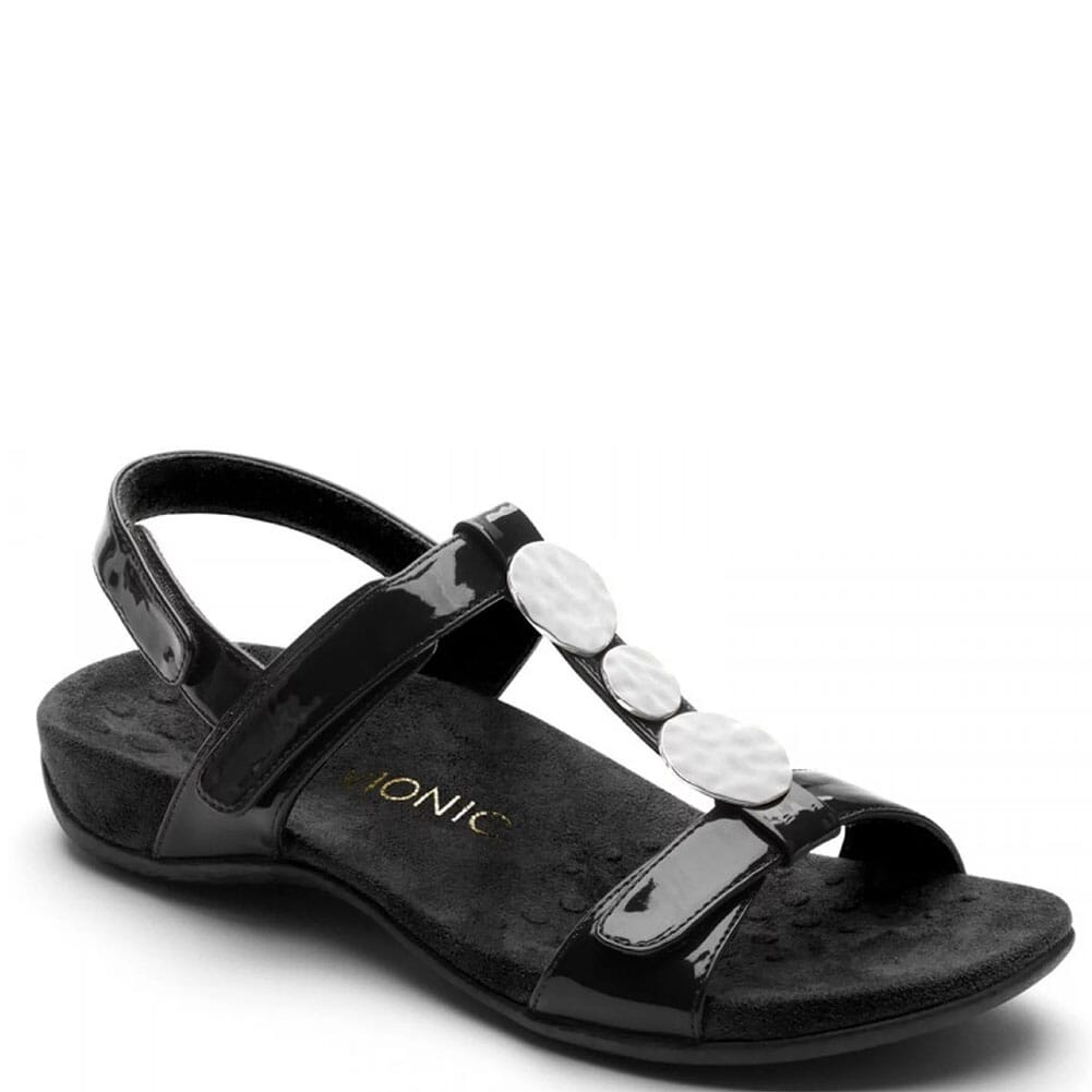 Image for Vionic Women's Rest Farra Lizard Sandals - Black from elliottsboots