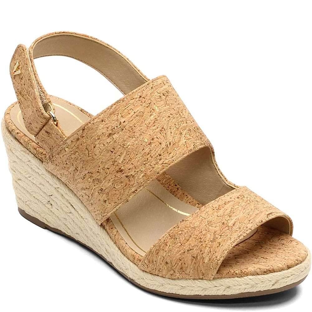 Image for Vionic Women's Brooke Wedge Sandals - Cork from elliottsboots