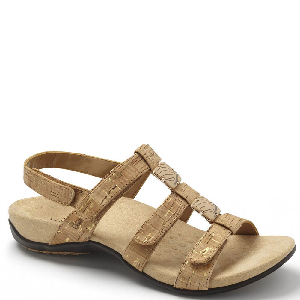 Image for Vionic Women's Amber Sandals - Gold Cork from elliottsboots