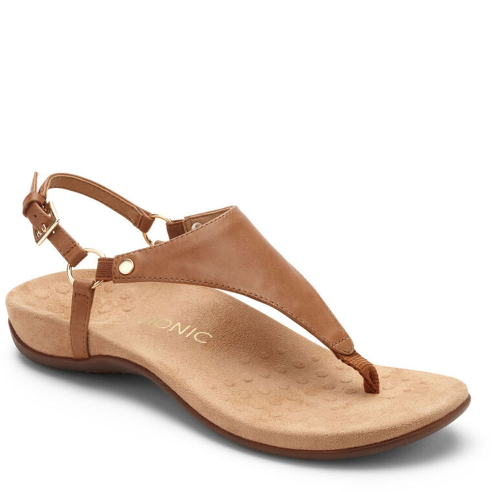Image for Vionic Women's Kirra Backstrap Sandals - Brown from elliottsboots