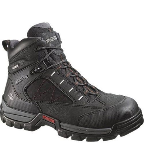 Image for Wolverine Men's Amphibian Safety Boots - Black from bootbay