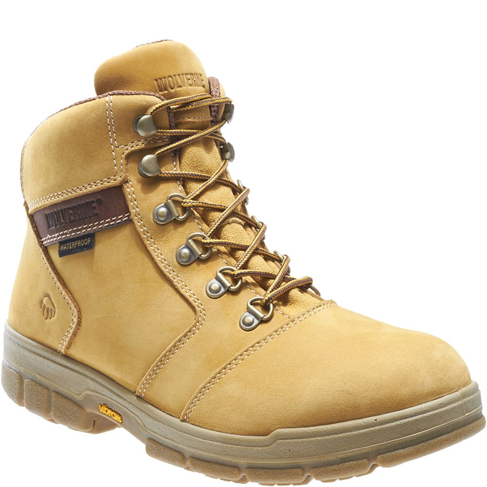 Image for Wolverine Men's Barkley Work Boots - Gold Nubuc from bootbay