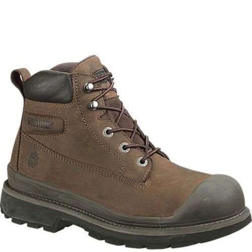 Image for Wolverine Men's Crawford Safety Boots - Brown from bootbay