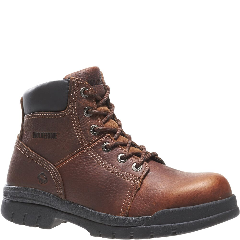Image for Wolverine Men's Slip Resistant Safety Boots - Brown from bootbay