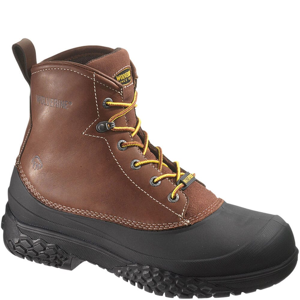 Image for Wolverine Men's Swampmonster WP Safety Boots - Brown from bootbay
