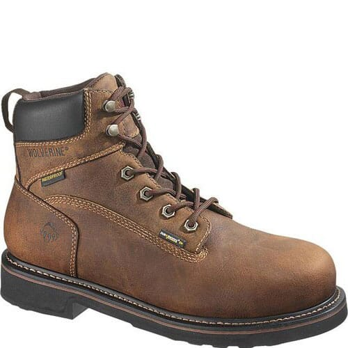Image for Wolverine Men's Brek 6IN WP Safety Boots - Brown from bootbay
